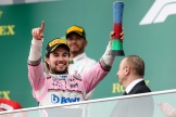 Sergio Pérez (Force India F1 Team) Celebrating his Third Place