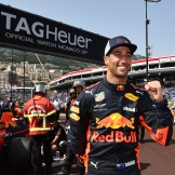 Daniel Ricciardo (Red Bull Racing) Celebrating his Pole Position