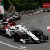 Marcus Ericsson (Sauber F1 Team, C37) and Kevin Magnussen (Haas F1 Team, VF18)