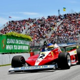 Jacques Villeneuve in Gilles Villeneuve his Ferrari