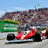 Jacques Villeneuve in Gilles Villeneuve his Ferrari