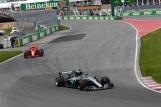 Lewis Hamilton (Mercedes AMG F1 Team, F1 W09 EQ Power) and Kimi Räikkönen (Scuderia Ferrari, SF71H)