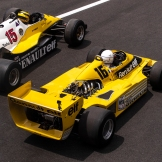 A Demonstration With Two Old Formula 1 Renault Cars