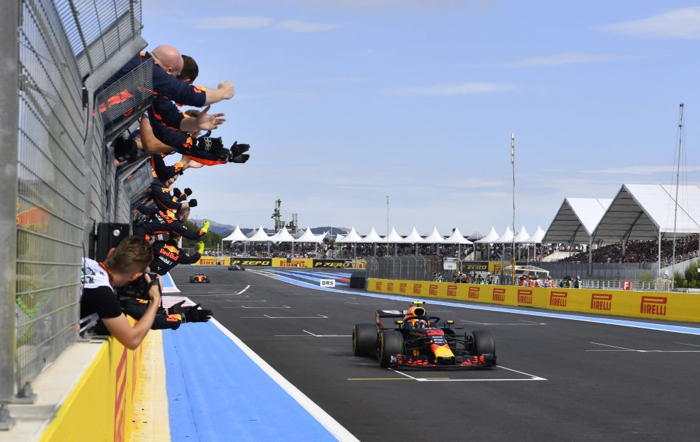 Red Bull Racing Celebrating Max Verstappen's Second Place