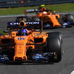 Fernando Alonso and Stoffel Vandoorne, McLaren Renault, MCL33