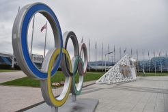 The Olympic Rings on Sochi Autodrom