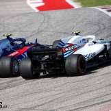Pierre Gasly (Scuderia Toro Rosso, STR13) and Sergey Sirotkin (Williams F1 Team, FW41)
