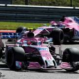 Esteban Ocon en Sergio Pérez, Racing Point Force India F1 Team, VJM11