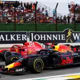 Sebastian Vettel (Scuderia Ferrari, SF71H) and Daniel Ricciardo (Red Bull Racing, RB14)