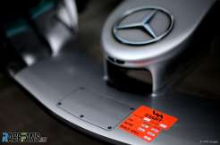 Detail of the Front Wing for Mercedes AMG F1 Team F1 W09 EQ Power