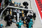 Pit Stop for Lewis Hamilton (Mercedes AMG F1 Team, F1 W10)