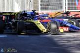 Daniel Ricciardo (Renault F1 Team, R.S.19) and Daniil Kvyat (Scuderia Toro Rosso, STR14)