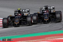 Kevin Magnussen and Romain Grosjean, Haas F1 Team, VF19