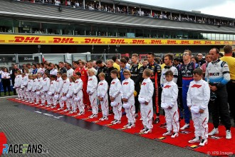 A Minute's silence for Anthoine Hubert