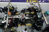 Pit Stop for Lewis Hamilton, Mercedes AMG F1 Team, F1 W10