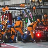 Pit Stop for Lando Norris, McLaren Renault, MCL34
