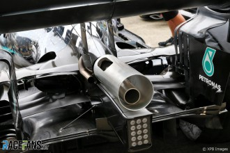 Detail of the Mercedes AMG F1 Team F1 W10