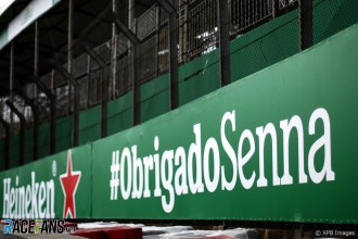 Ayrton Senna Slogan at Interlagos