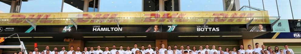 Lewis Hamilton and Valtteri Bottas, Mercedes AMG F1 Team, F1 W10