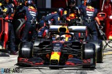 Pit Stop for Max Verstappen, Red Bull Racing, RB16