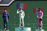 The Podium : Second Place Carlos Sainz Jr. (McLaren Renault), Race Winner Pierre Gasly (Scuderia Alpha Tauri) and Third Place Lance Stroll (BWT Racing Point F1 Team)