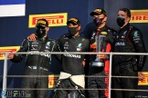 The Podium : Second Place Valtteri Bottas (Mercedes AMG F1 Team), Race Winner Lewis Hamilton (Mercedes AMG F1 Team) and Third Place Alexander Albon (Red Bull Racing)