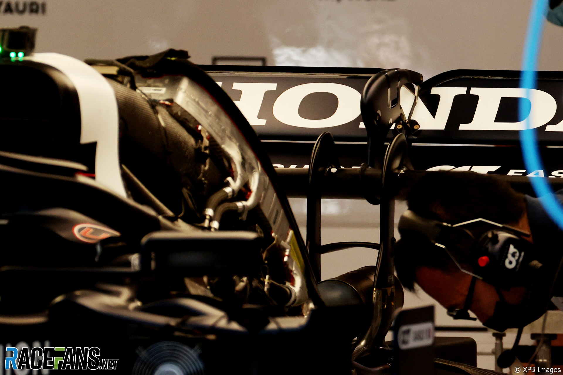 A Detail for the AlphaTauri F1 Team AT02